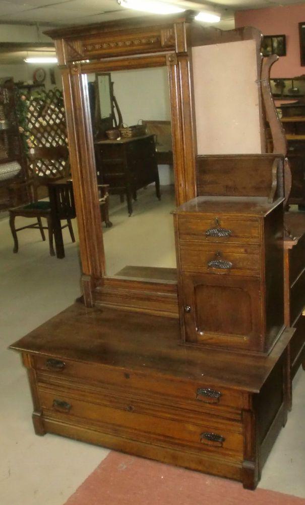 Best Antique Chevelle Dresser Hat Box Chest Of Drawers Mirrored 640 x 480