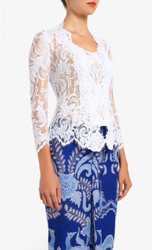 Photo of Lace Kebaya Top in White