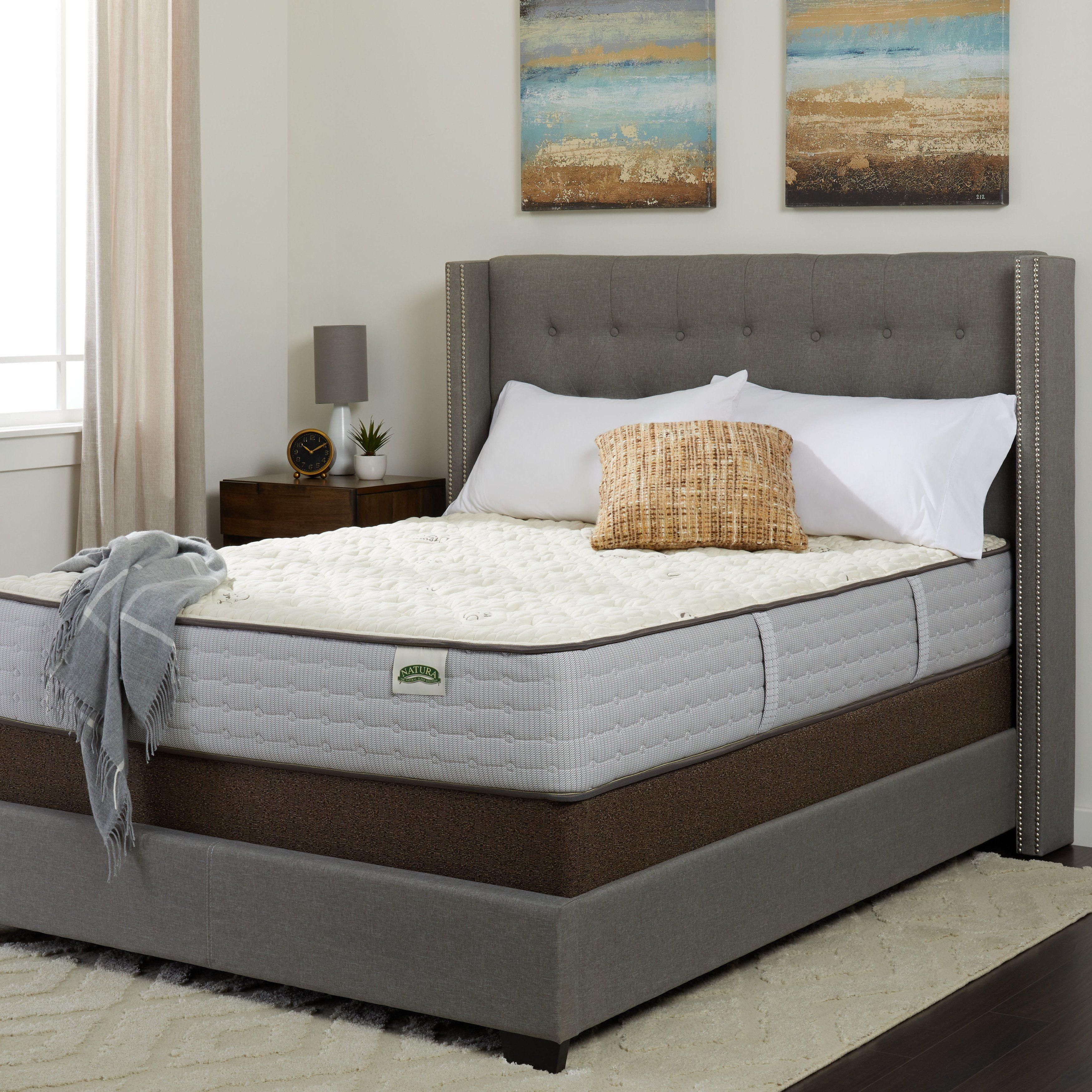 Natura Persimmon Red 10 5 Inch Natural Firm Twin Mattress With Deluxe Natura Foundation Mattress Sets Mattress Bedroom Furniture Stores