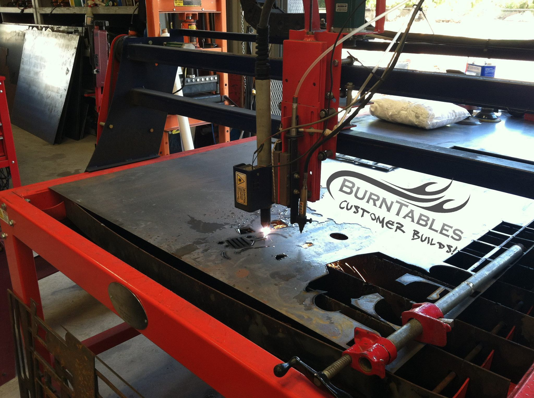 Cnc Burntables Plasma Table With Water Tray Cnc Art