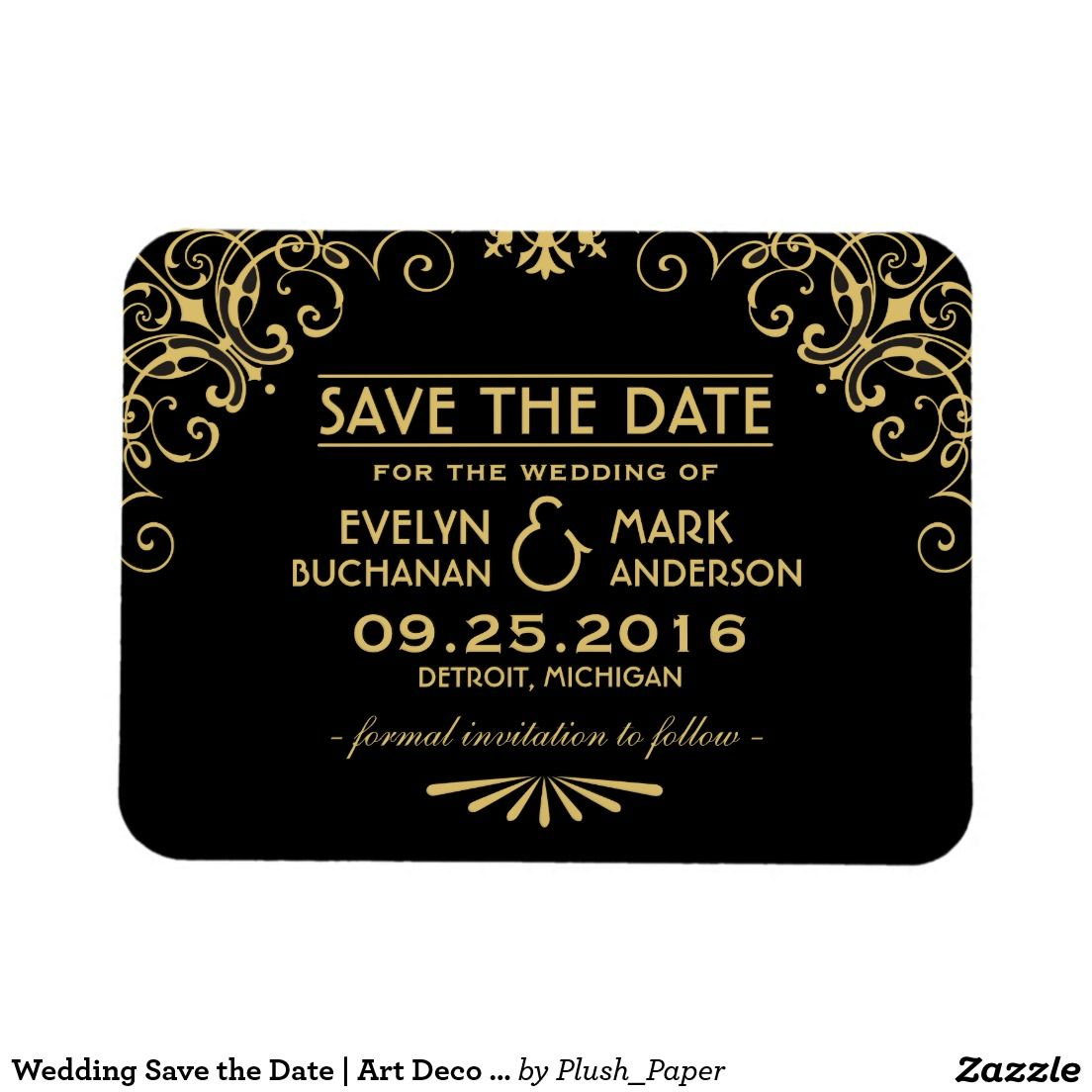 Wedding Save the Date | Art Deco Style | WEDDING: SAVE THE DATE ...