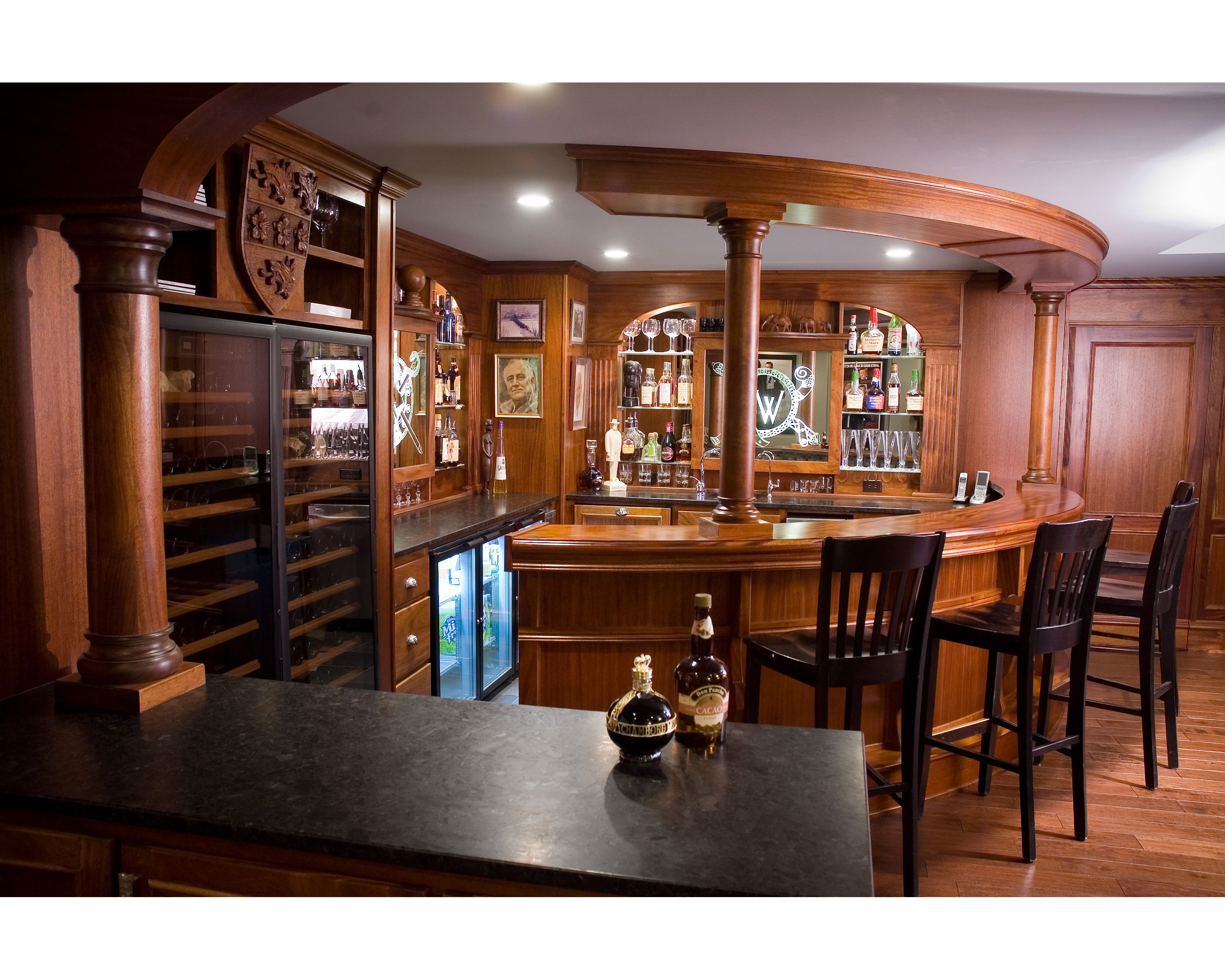 pub in basement | Dream Home | Pinterest