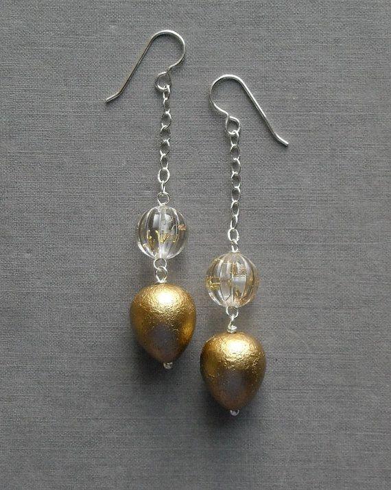 last one all that glitters earrings vintage by urbanlegend