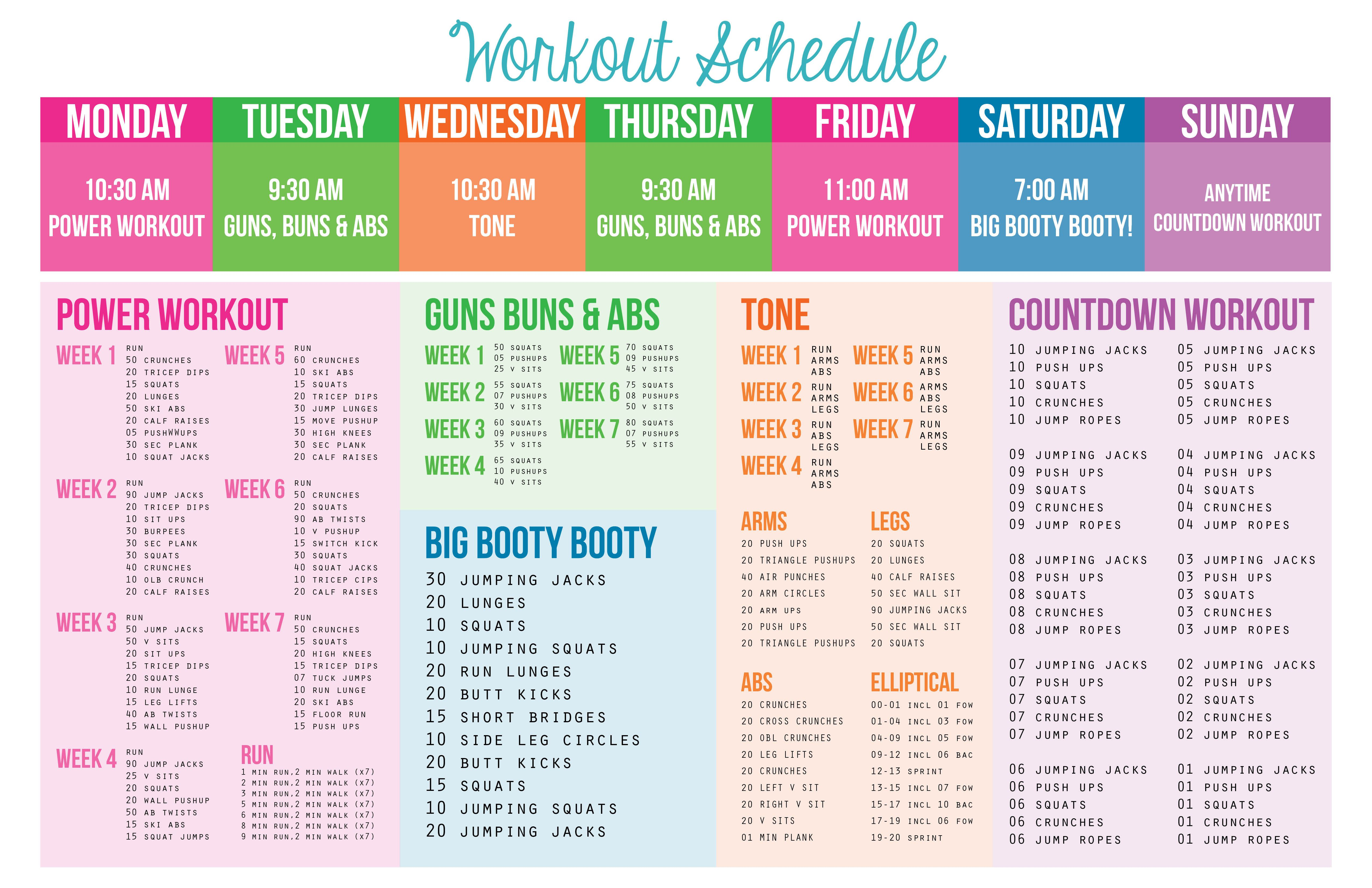researched a few workout plans and decided to make my own schedule  figured i u0026 39 d make it look