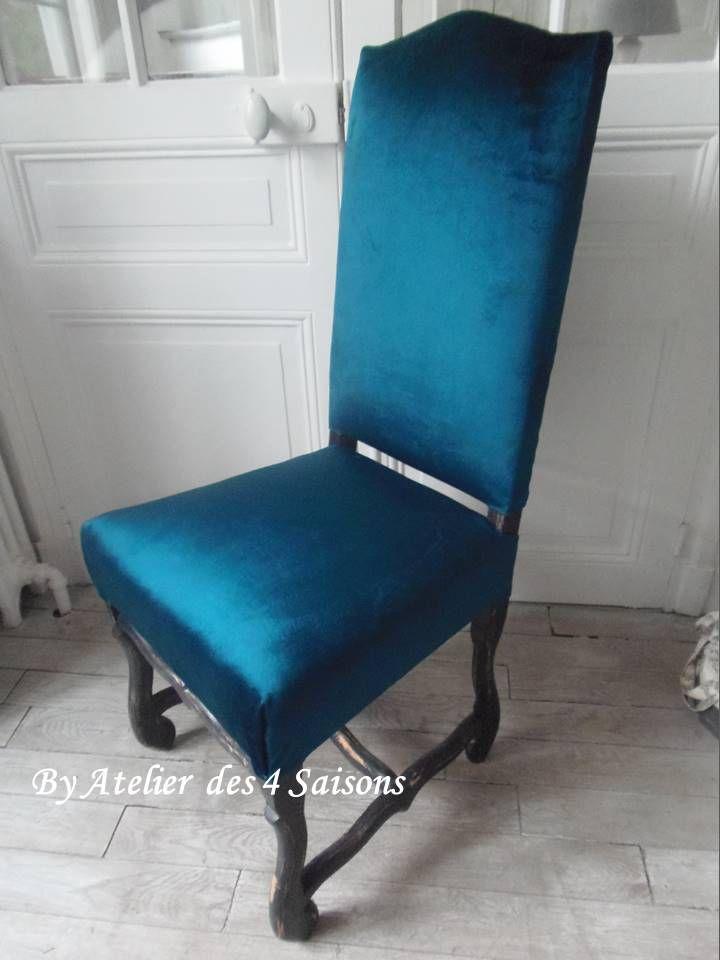 chaise style louis xiii revisit e pour un look dans l air du temps atelier des 4 saisons. Black Bedroom Furniture Sets. Home Design Ideas