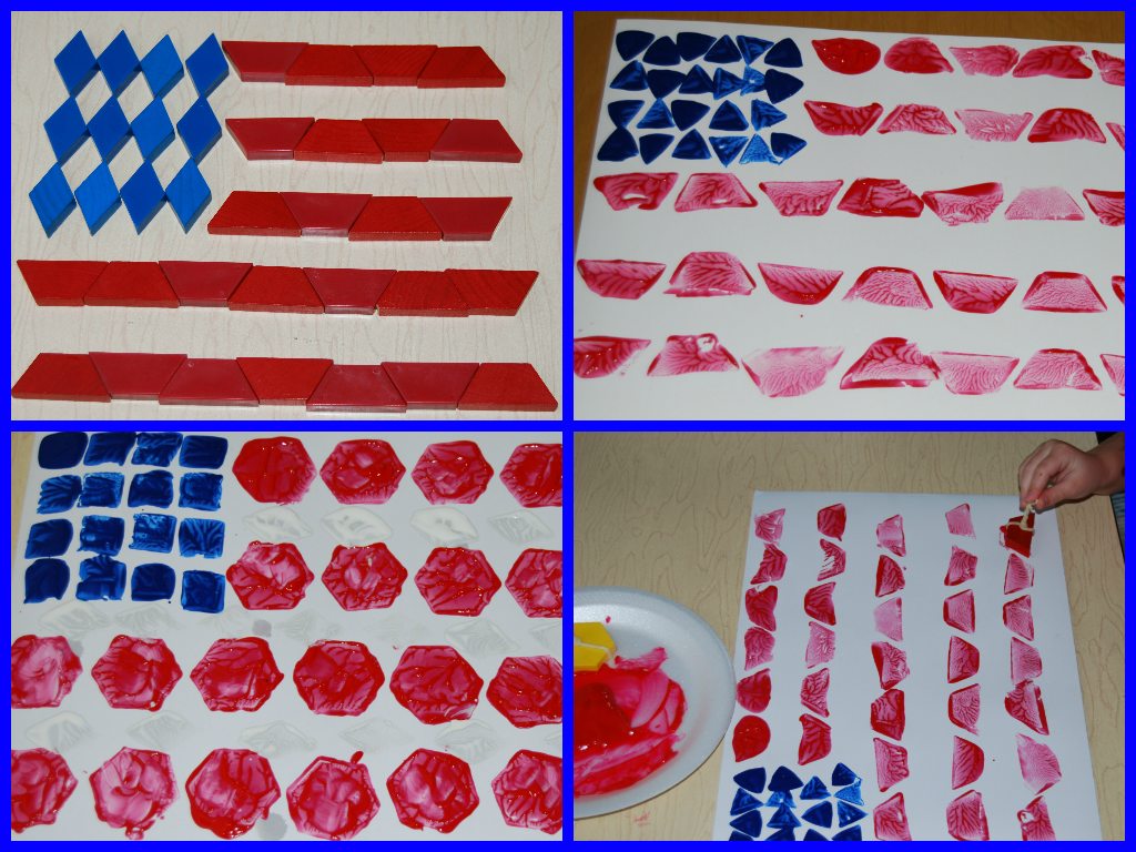Uncategorized History Of American Flag For Kids easy patriotic pattern block painted flag craft painting craft