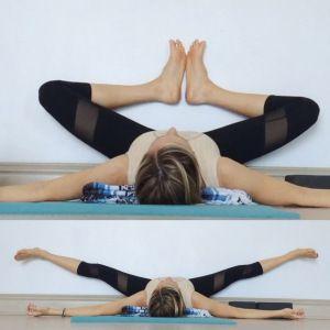 yin yoga at the wall  yin yoga yoga poses restorative yoga