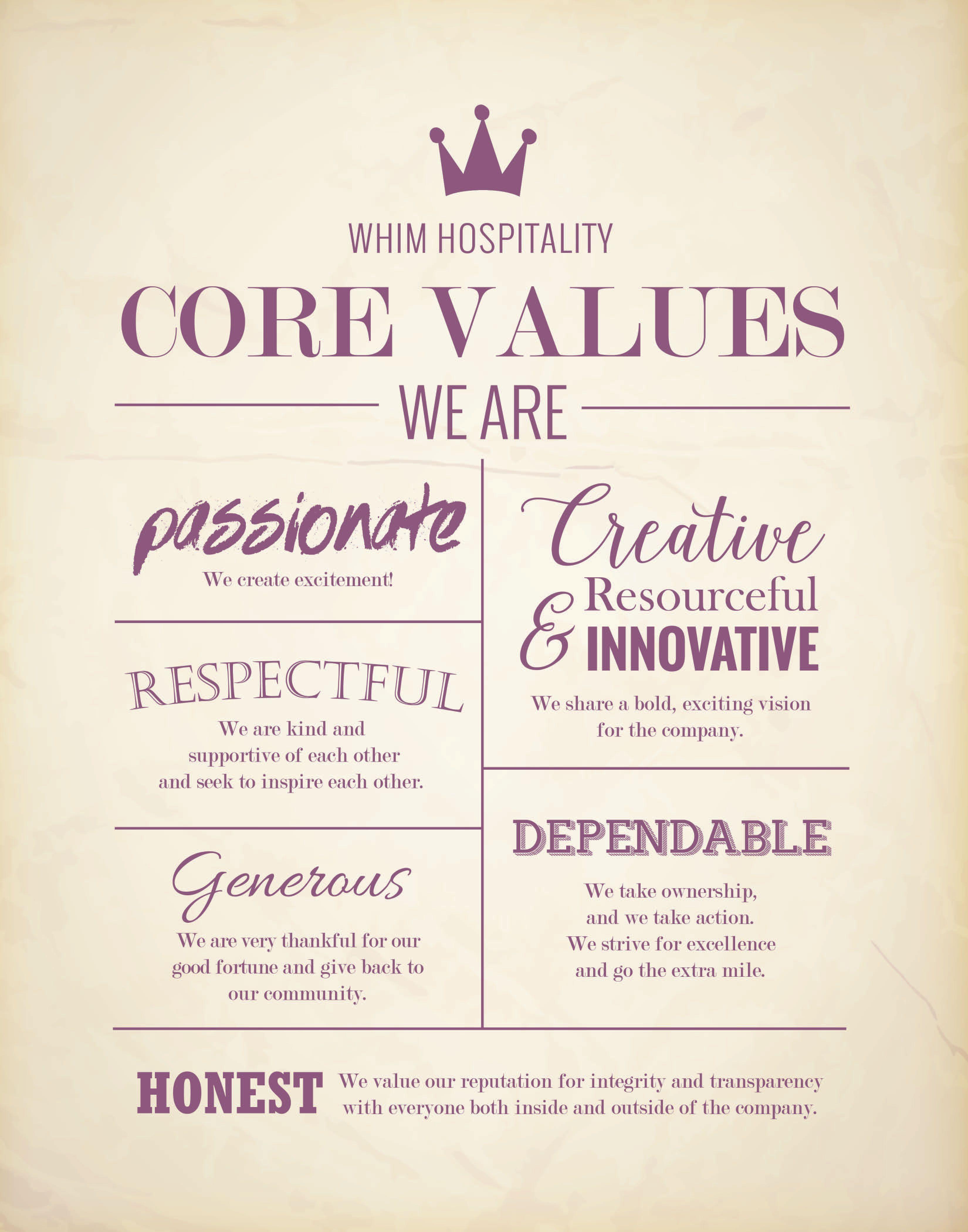 Core Values Company core values, Core values, Employee