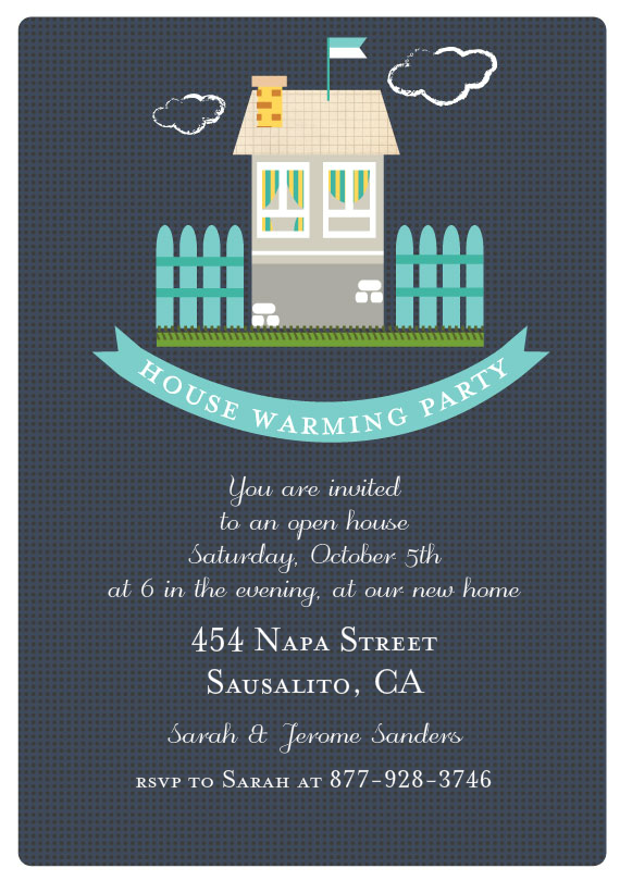 House Warming Banner by Petra Kern - Hand painted Design | Greenvelope.com