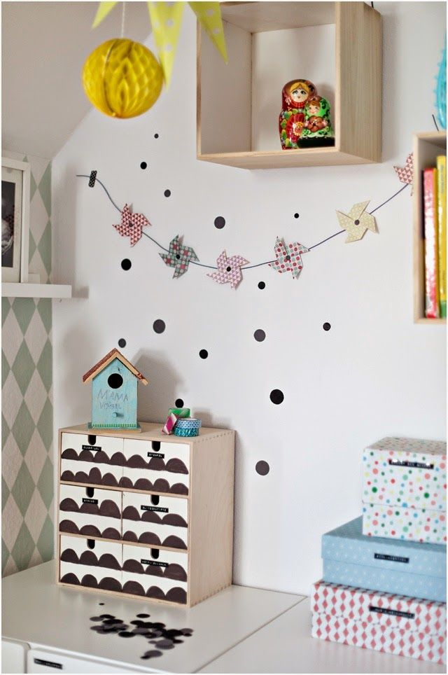 pin wheel garland and some washi tape ideas