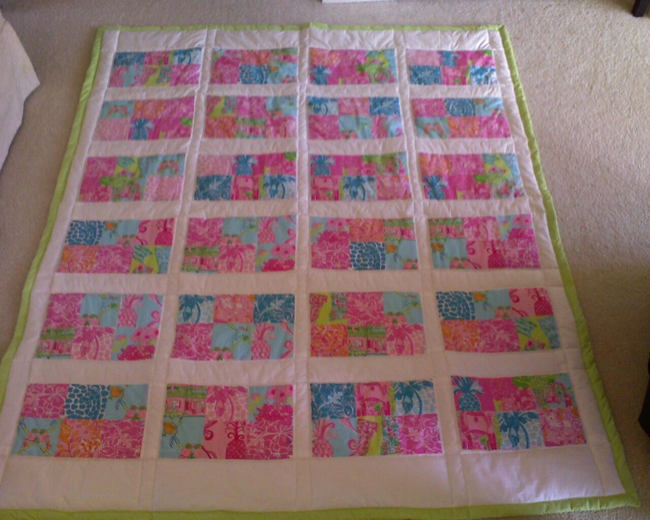 Quilt made with Lilly Pulitzer fabric.   Lilly Quilts ... : lilly pulitzer quilts - Adamdwight.com