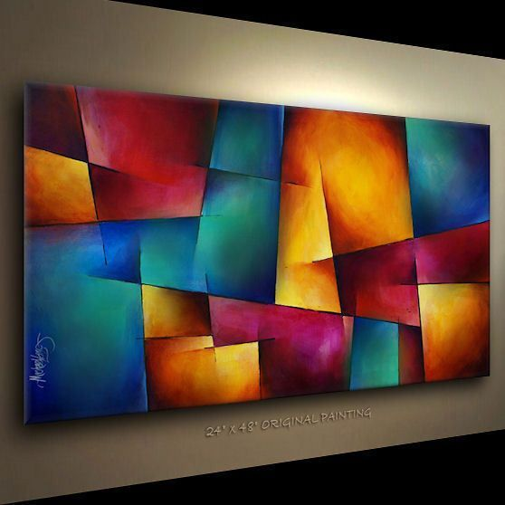ART ABSTRACT PAINTING MODERN Contemporary DECOR Michael Lang ...