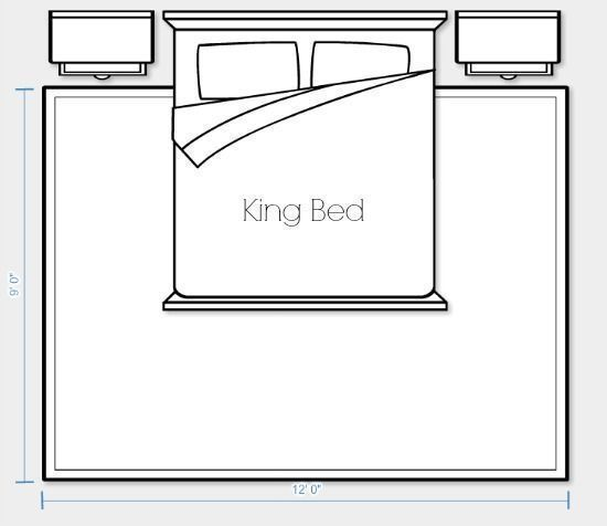 Photo of Placement and size of the carpet for king-size bed option 2 | Satori Design …