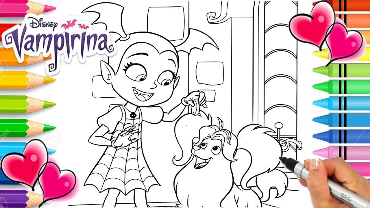 Vampirina And Wolfie Coloring Page Vampirina Coloring Book Disney Jr Coloring Books Printable Coloring Pages Coloring Pages