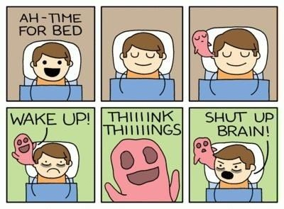 Image result for meme my  brain at night