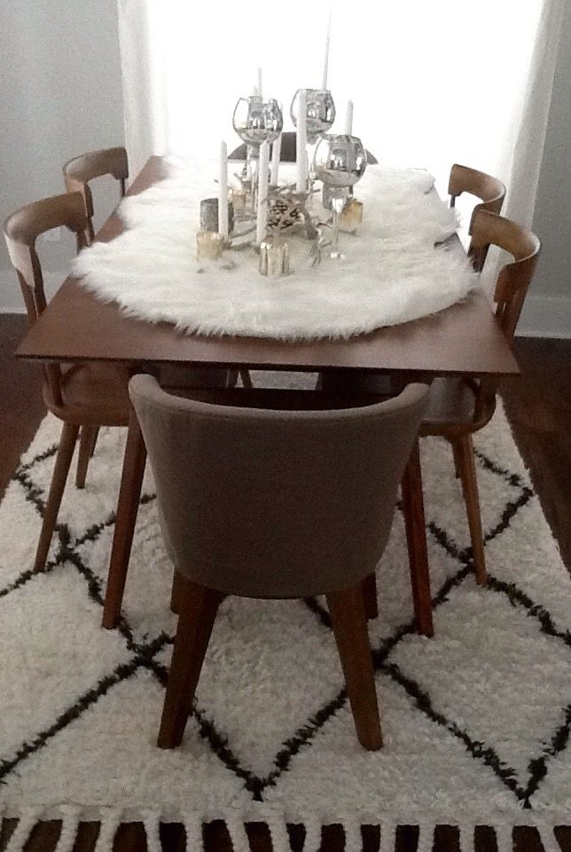 Fur Table Runner Dining Room Table Centerpieces Dining Room