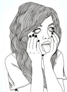 Grunge Drawing Tumblr Art Grunge Drawing Outline Drawings