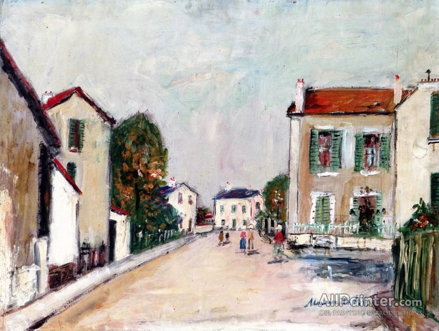 Maurice Utrillo Street In Samois oil painting reproductions for sale