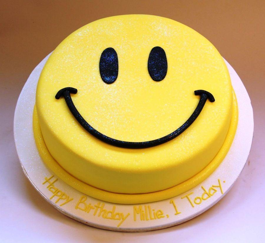 Deco gateau anniversaire smiley
