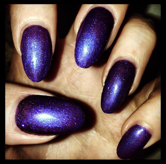 Purple shellac and purple glitter