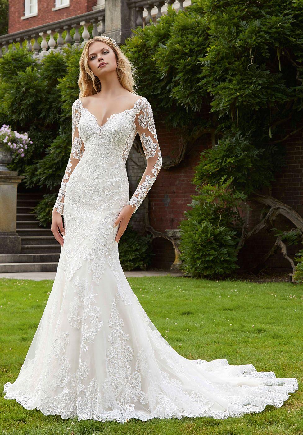 Mori Lee 2040 Philomena Long Sleeves Bridal Gown Fit