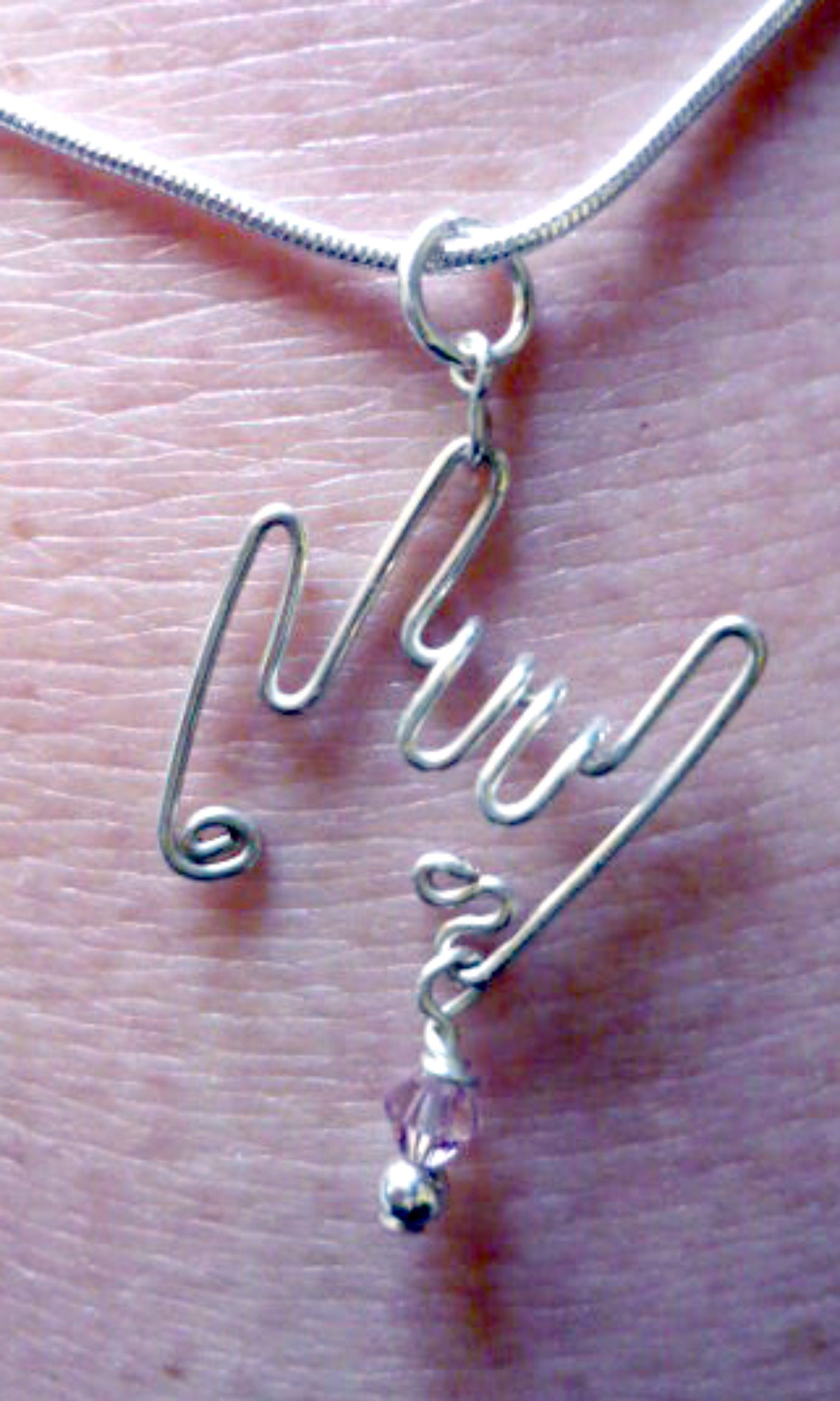 Deaf Awareness ASL Antique Silver Charm Necklace With Three Charms