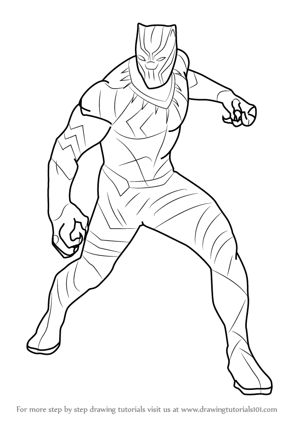 Black Panther Marvel Coloring Pages Murderthestout