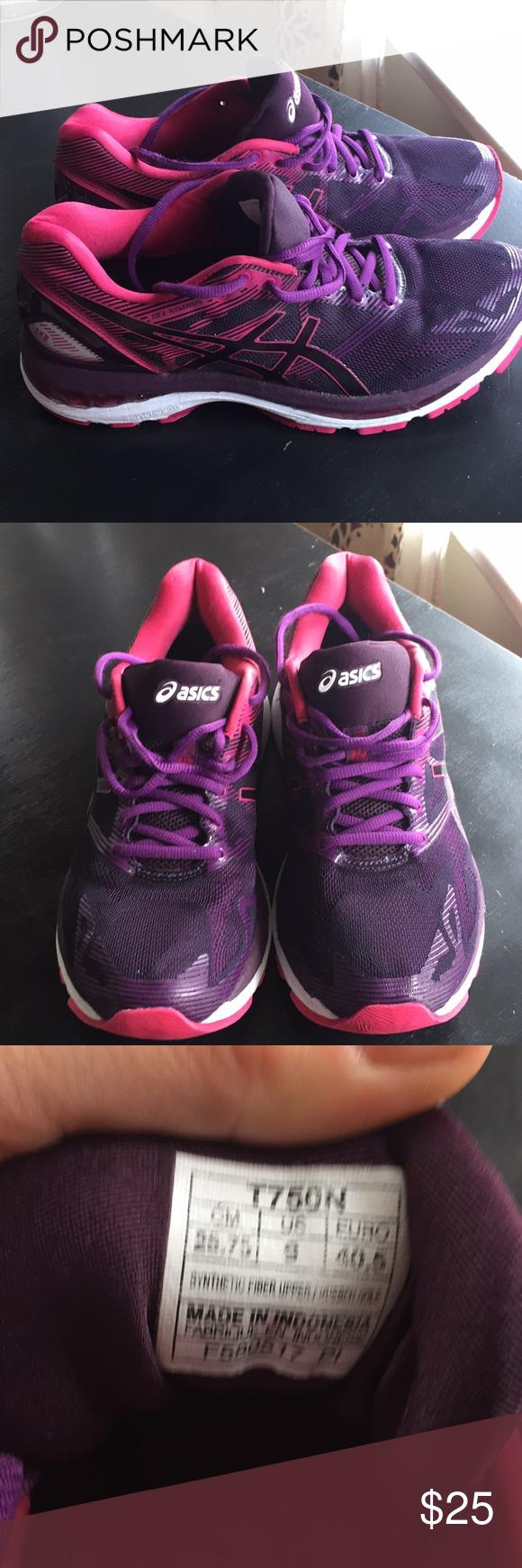 pink and purple asics