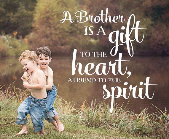 Word Overlay - Brother Phrase Photo Overlay - Text Photo Overlay - Brother Quote Baby Newborn Child