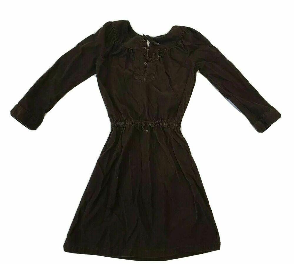 Lands End Girls Long Sleeve Corduroy Dress Brown Size 7 Front Snaps Landsend Aline Casual Girls Fashion Clothes Corduroy Dress Dresses [ 899 x 1000 Pixel ]