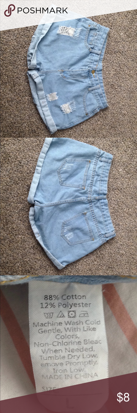 Light Blue Jean Shorts Jean Shorts. Offers are Welcome! ROMWE Shorts Jean Shorts #lightblueshorts Light Blue Jean Shorts Jean Shorts. Offers are Welcome! ROMWE Shorts Jean Shorts #lightblueshorts