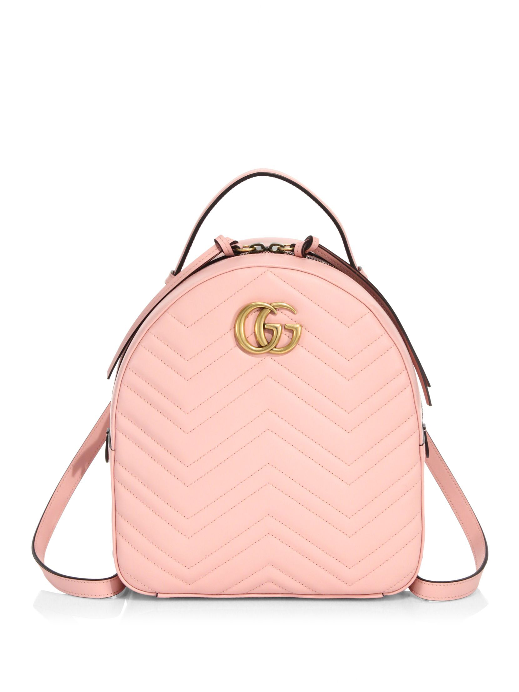 e323d50a812 Gucci GG Marmont Chevron Quilted Leather Backpack