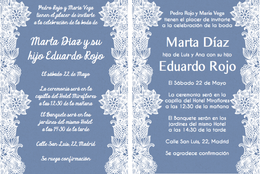 Invitaciones de boda y texto para invitaciones de boda paper stuff spanish wording for invitations even though the wedding will be english language id like to send an invite to my abuelita in spanish and my aunts and filmwisefo