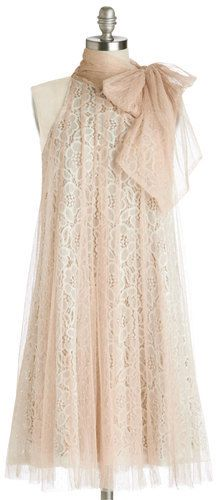 Plus Size Dress in Champagne