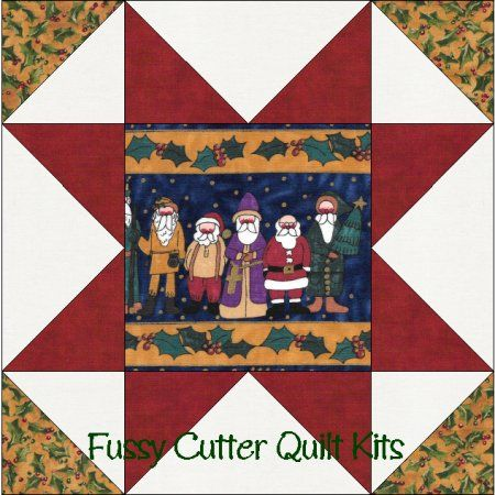 Moda Prim Christmas Santa Holly Fabric Easy Star Pre-Cut Quilt ... : pre cut quilt blocks - Adamdwight.com