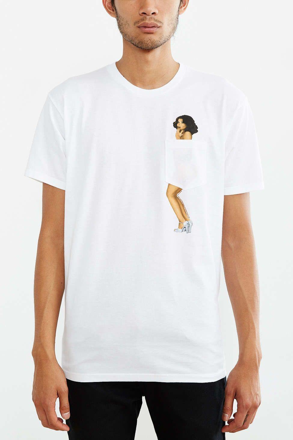 9dba4c8691c2 Junk Food Playboy Pocket Tee | T-Shirts | Mens tee shirts, Shirts ...