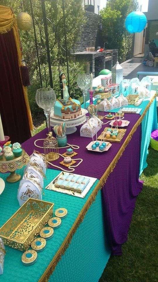Princess Jasmine Party Decorations Dessert Table Princess