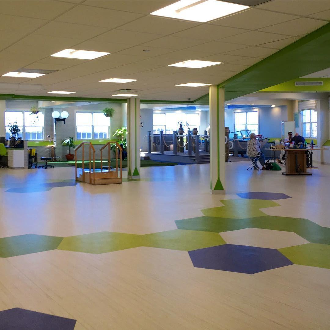 Margalit Lankry On Instagram Hexagon Fun Therapy Gym Floor Bright Happy Seamless Flooring Installation Gym Flooring Healthcare Design Instagram Posts