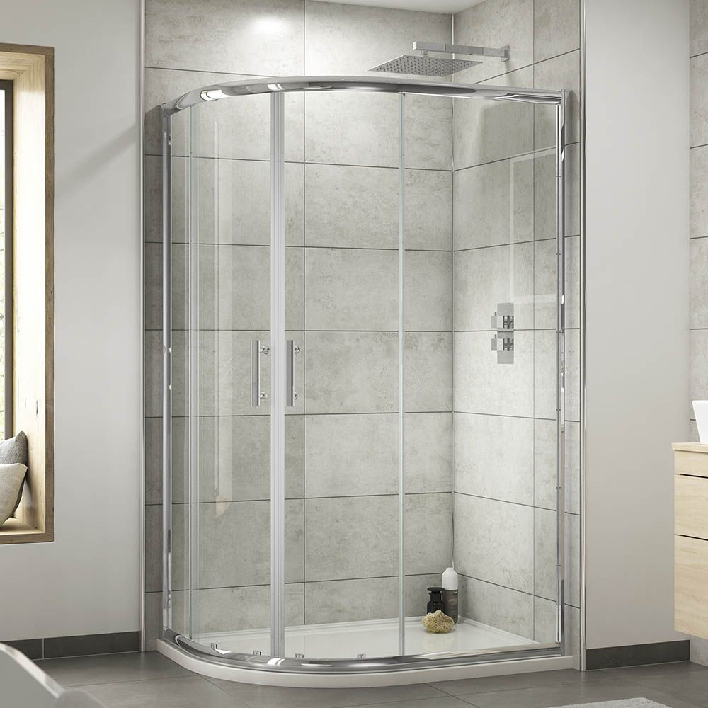 Pacific Offset Quadrant Shower Enclosure With Shower Tray Waste Left Hand Option At Victorian Plumbing Uk Quadrant Shower Enclosures Quadrant Shower Corner Shower Enclosures