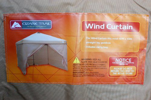 Ozark Trail Wind Curtain For 10 X Straight Leg Canopy Gazebo Be Sure To Check Out This Awesome Product