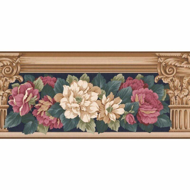 Astoria Grand Croom Floral 15 L X 9 W Wallpaper Border Wayfair In 2021 Wallpaper Border Prepasted Wallpaper Floral Wallpaper