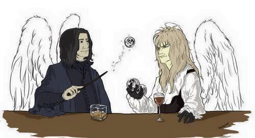 Alan Rickman (Professor Snape) & David Bowie (Goblin King