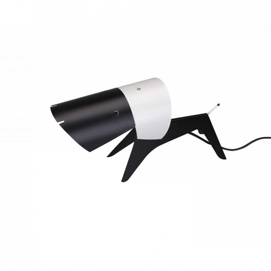Dog Lamp inspired by Jean Boris LaCroix - This little metal dog sculpture is as much a piece of art as it is a functional desk lamp. The design is a reproduction of Jean Boris LaCroix's Mid-Century Modern Dog Lamp design from the 1950's.