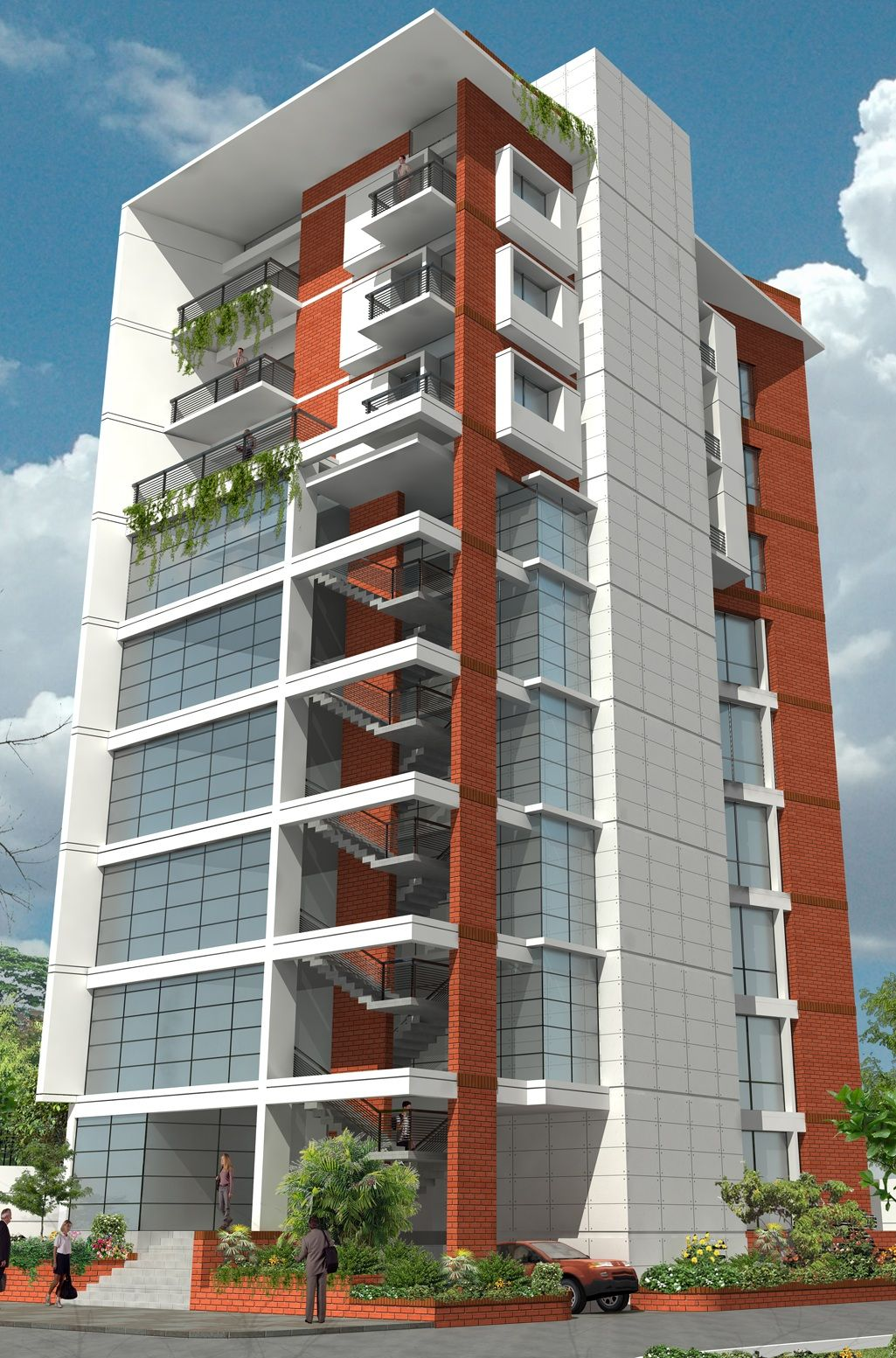 One Basement 9 Storied Residential Cum Commercial Building Located At Mirpur Dhaka Bangladesh
