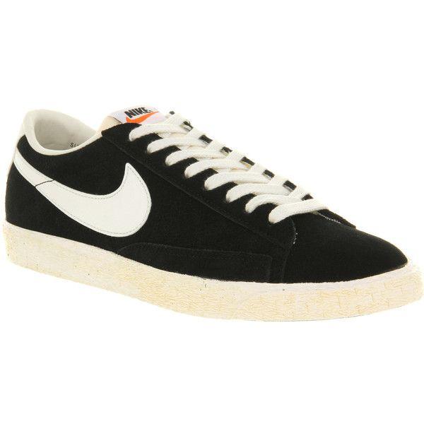 Nike Blazer low vintage black suede ($105) ❤ liked on ...