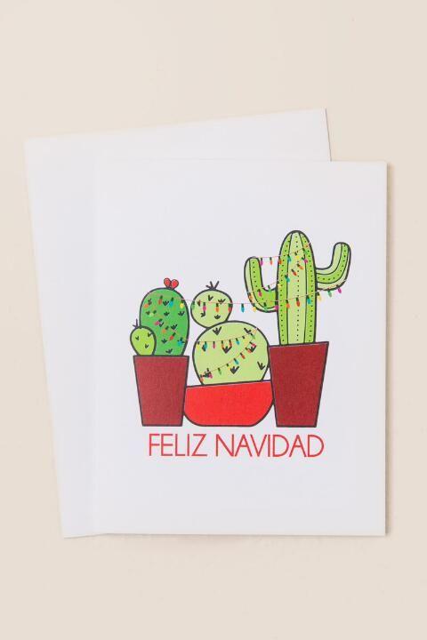Feliz Navidad Cactus Card-  gift-cl