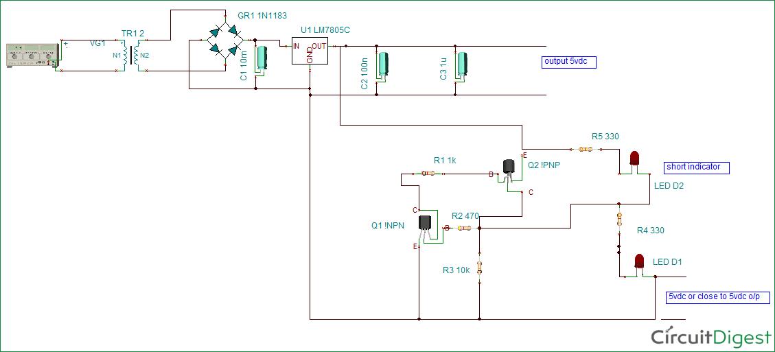 Short Circuit Protection Circuit Circuit Diagram Circuit Circuit Projects