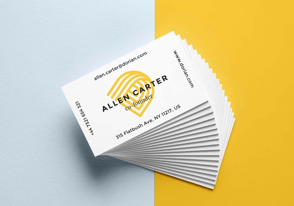 Free Realistic Business Card Mockup Psd Business Cards Mockup Psd Business Card Mock Up Business Card Psd