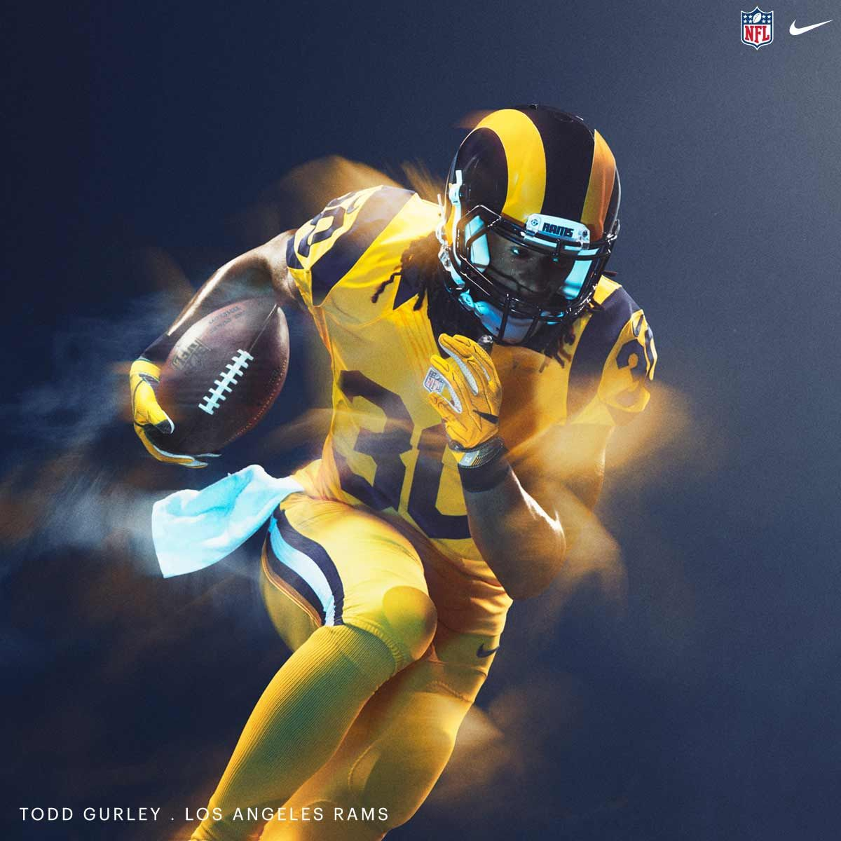 Nfl Nike Color Rush 2016 Jersey Los Angeles Rams Los Angeles Rams Color Rush Rams Color Rush