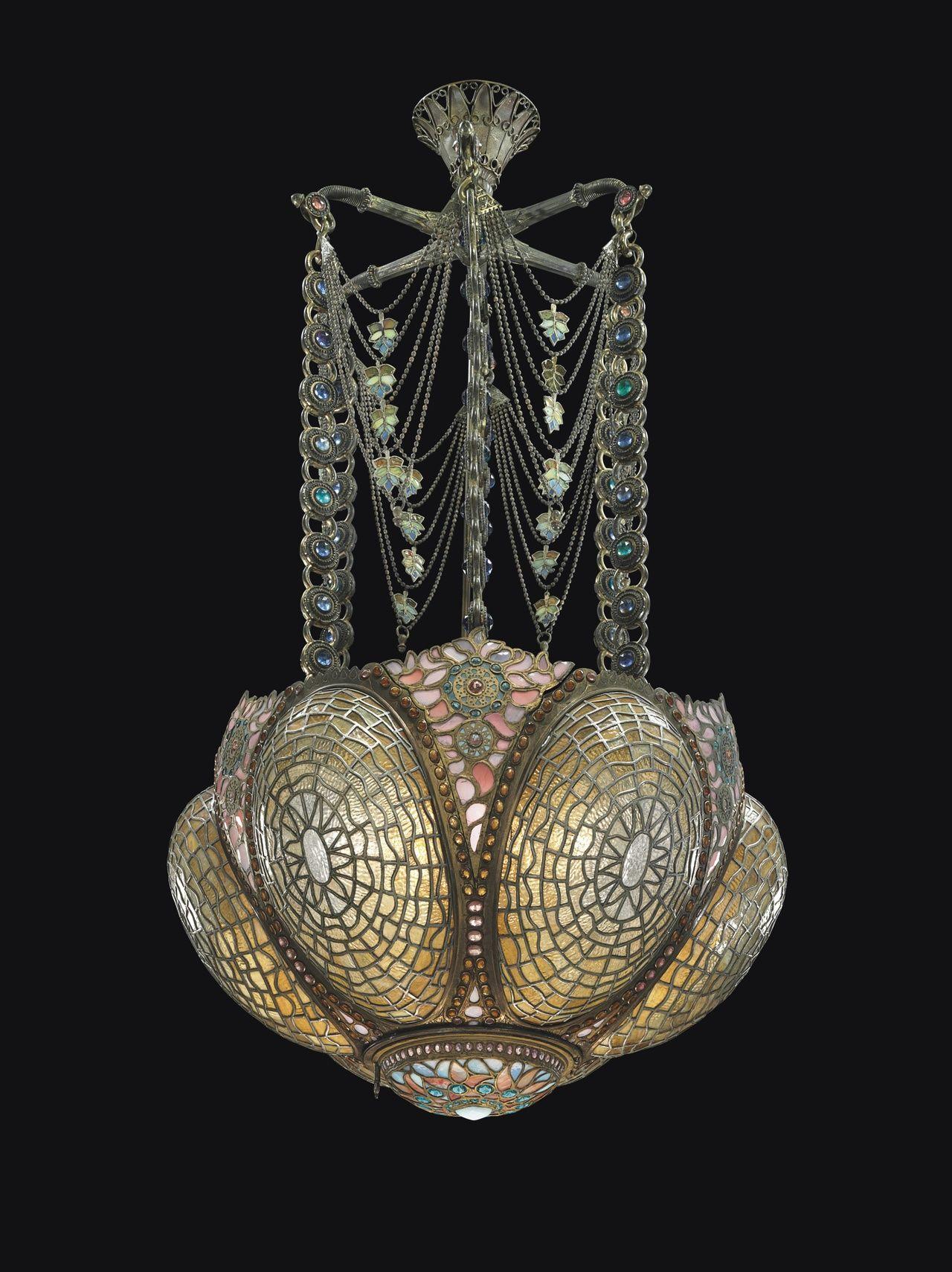 Tiffany Studios Rare and Early Chandelier, Circa 1895
